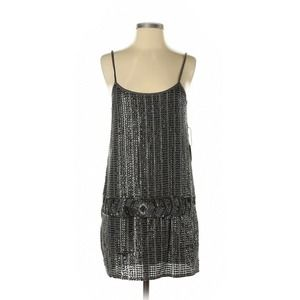 NWT FOREVER 21 SMALL Gray Sequin Party Dress